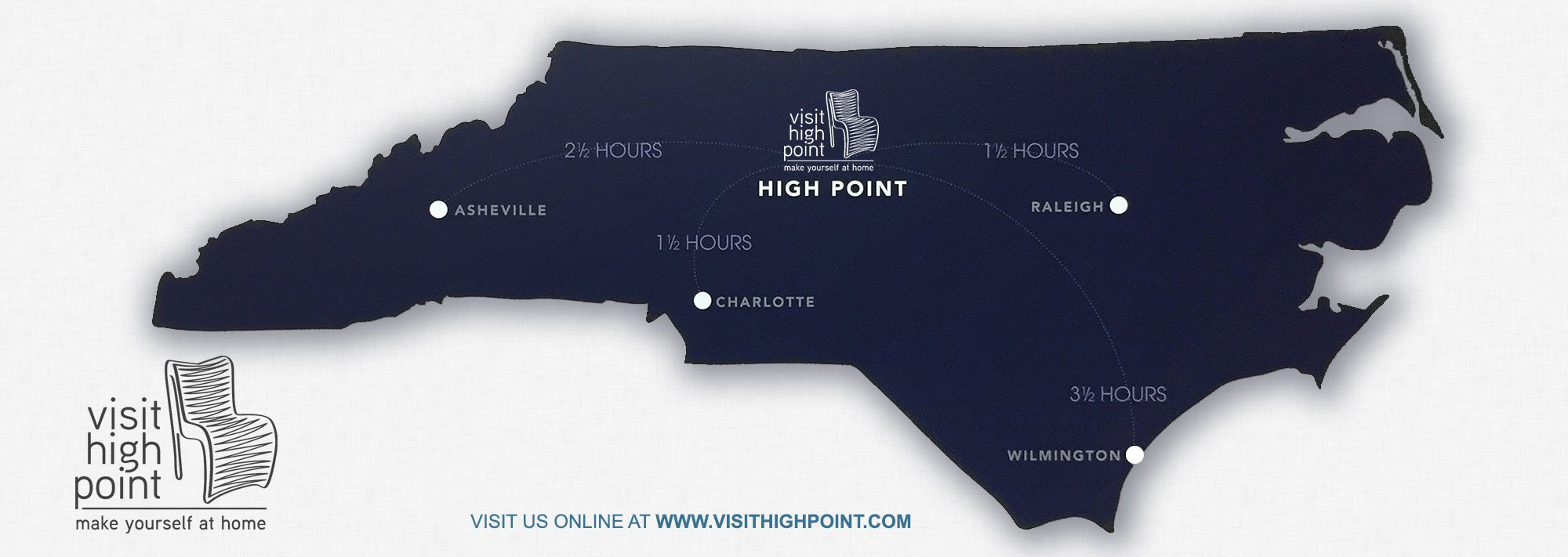 Map preview of High Point, NC